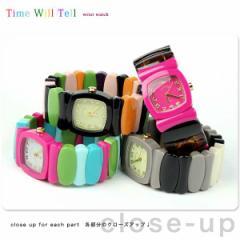 タイムウィルテル レディース 腕時計 レインボー TIME WILL TELL 選べるモデル