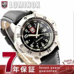 【あす着】ルミノックス LUMINOX ネイビー シールズ カラーマークシリーズ 腕時計 レディース レザーベルト ブラック 7251