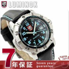 【あす着】ルミノックス LUMINOX ネイビー シールズ カラーマークシリーズ 腕時計 レディース レザーベルト ブラック×ブルー 7253