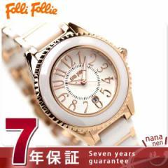 フォリフォリ Folli Follie 腕時計 レディース セラミック ホワイト×ピンクゴールド WF0B033BDW