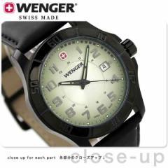ウェンガー アルパイン メンズ 腕時計 W70474 WENGER クオーツ シルバー×ブラック
