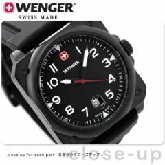 ウェンガー エアログラフ コックピット メンズ 腕時計 W72424 WENGER クオーツ ブラック ラバーベルト