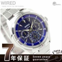 セイコー ワイアード ソーラー マルチカレンダー メンズ 腕時計 SEIKO WIRED ブルー AGAD033