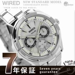 セイコー ワイアード ソーラー ニュースタンダード AGAD050 SEIKO WIRED メンズ 腕時計 マルチファンクション ホワイト
