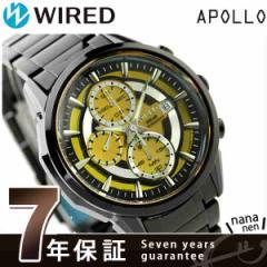 【あす着】セイコー ワイアード アポロ Xmas 限定モデル クロノグラフ AGAD724 SEIKO WIRED 腕時計 イエロー×ブラック