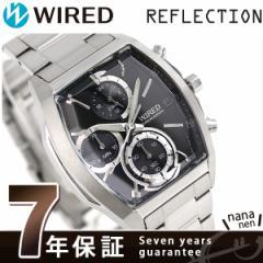 セイコー ワイアード ニューリフレクション クロノグラフ AGAV127 SEIKO WIRED 腕時計 ブラック