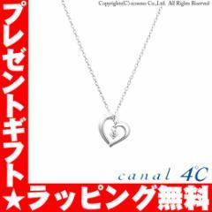 カナル4℃ ネックレス オープンハート ダイアモンド シルバーネックレス canal ヨンドシー 151244121019