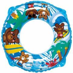 【メール便送料無料】 うきわ 浮輪 子供 こども 男の子 女の子 浮き輪 くまさんビーチ ウキワ 両面プリント 55cm RGP-255 (ig-0196m)