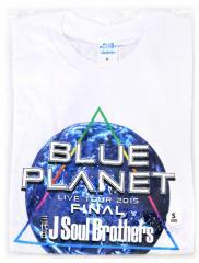 三代目TOUR 2015 BLUE PLANET/ファイナル Tシャツ 白(S)◆新品Ss【即納】