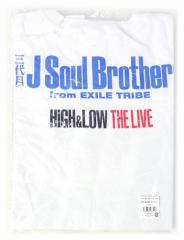 HiGH&LOW THE LIVE 会場限定ビッグTシャツ 白 三代目◆新品Ss【即納】