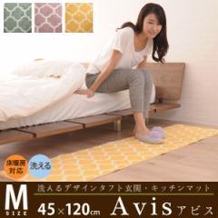 洗えるデザインタフトラグ 玄関/キッチンマット『アビス』 Mサイズ 約45×120cm ラグ 玄関マット キッチンマット マイクロフ
