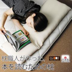 本を読むための枕 読書枕 寝転がって本を読むときのための枕(NHKおはよう日本 寝る前に本を読む人 読書枕 ブックピロー 本を読む枕)