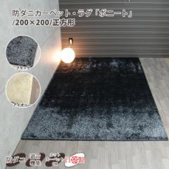 防ダニカーペット・ラグ「ボニート」 正方形 ラグマット 約200×200cm 【SALE セール】【送料無料】【日本製 国産】 2畳 ニ畳 ラグ マッ
