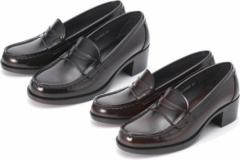 (B倉庫)HARUTA ハルタ 4603 レディース ローファー 通学 学生 靴 3E ヒール高4.5cm足長モデル 送料無料