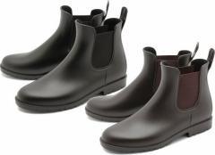 (A倉庫)BCR BC-517 メンズレインシューズ プレーントゥ サイドゴア レインブーツ メンズレインブーツ  紳士長靴 【送料無料】
