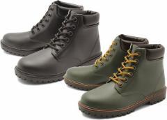 (A倉庫)BCR BC-518 メンズレインシューズ レースアップ ハイカット レインブーツ メンズレインブーツ  紳士長靴 送料無料