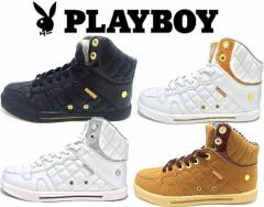 (A倉庫)PLAYBOY Bunny プレイボーイバニー PB-2001 レディーススニーカー ハイカット スニーカー シューズ 靴 プレイボーイ PB2001