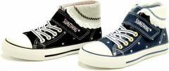 (A倉庫)SOMETHING EDWIN SOM 3026 サムシング エドウィン 子供靴 スニーカー ハイカット シューズ SOM-3026 ジュニア 女の子 送料無料
