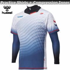 hummel ヒュンメル コンプレッション インナー プラシャツ + インナー セット HAP7095 10 ホワイト