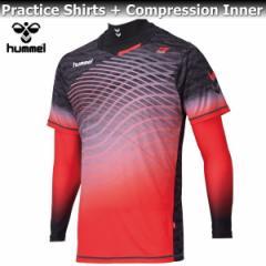 hummel ヒュンメル コンプレッション インナー プラシャツ + インナー セット HAP7095 90 ブラック
