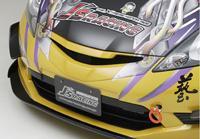 Js RACING フロントスポーツグリル タイプS(未塗装)ホンダ フィット RS 前期 GE8用(品番:AG-F3M)