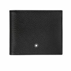 モンブラン 財布 MONTBLANC 二つ折り財布 MST シュテュック ソフトグレイン ウォレット 8cc ブラック 114464