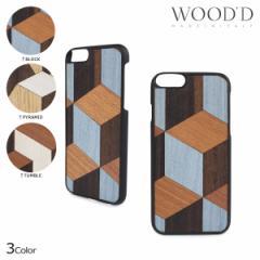 Wood'd ウッド iPhone8 iPhone7 6s ケース スマホ アイフォン GEOMETRIC 木製 メンズ レディース 3/22 新入荷