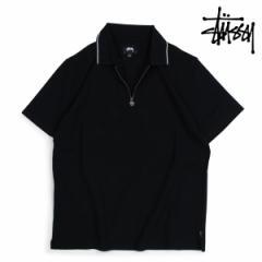 ステューシー STUSSY ポロシャツ メンズ 半袖 LION ZIP POLO ブラック 1140064 4/11 新入荷