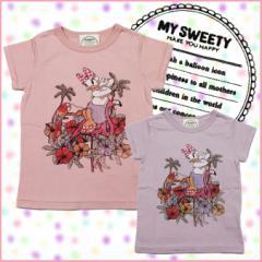 マイ スウィーティー MY SWEETY キッズ 半袖Tシャツ Loco Deisy Tee # ms12ss-ts07 トップス カットソー ピンク パープル ベビー服 子供