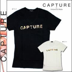 キャプチャー CAPTURE by Hollywood Made 半袖Tシャツ ブラック ホワイト C-SM12-4-18-WV COLLAGE BOYFRIEND V コットン レディース