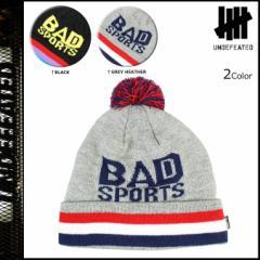 アンディフィーテッド UNDEFEATED ニットキャップ ビーニー ニット帽 帽子 BAD SPORTS POM BEANIE メンズ