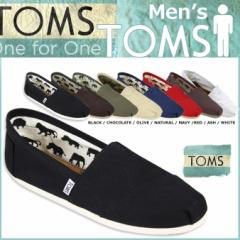 TOMS SHOES トムズ シューズ スリッポン CANVAS MENS CLASSICS トムス トムズシューズ メンズ