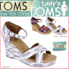 TOMS SHOES トムズ シューズ レディース サンダル WOMENS SUSTAINABLE STRAPPY WEDGES トムス トムズシューズ