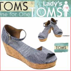 TOMS SHOES トムズ シューズ レディース サンダル VEGAN WOMENS PLATFORM WEDGES トムス トムズシューズ