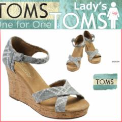 TOMS SHOES トムズ シューズ レディース サンダル EMBROIDERED WOMENS STRAPPY WEDGES トムス トムズシューズ
