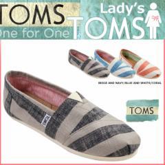 TOMS SHOES トムズ シューズ レディース スリッポン STRIPES WOMENS CLASSICS トムス トムズシューズ