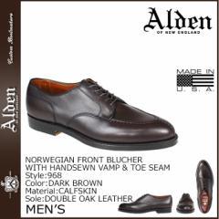 オールデン ALDEN シューズ NORWEGIAN FRONT BLUCHER Dワイズ 968 メンズ