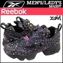 リーボック Reebok ポンプフューリー スニーカー コラボ x-girl INSTAPUMP FURY OG 20周年 M43197 メンズ レディース ブラック