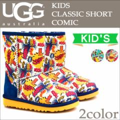 UGG アグ キッズ クラシック ショート ムートンブーツ KIDS CLASSIC SHORT COMIC 1004868KK シープスキン