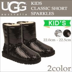 UGG アグ キッズ クラシック ショート ムートンブーツ KIDS CLASSIC SHORT SPARKLES 1004885KK シープスキン