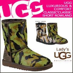 UGG アグ クラシック ショート ムートンブーツ WOMENS CLASSIC SHORT ROWLAND 1003389 シープスキン レディース