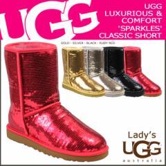 UGG アグ クラシック ショート ムートンブーツ WOMENS CLASSIC SHORT SPARKLES 3161 シープスキン レディース
