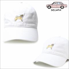 ドッグリミテッド 帽子 メンズ レディース キャップ Dog Limited ダッドキャップ ストラップバック SHIBAINU DAD CAP ホワイト