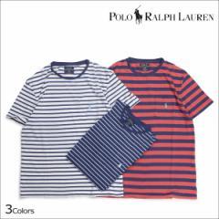 ラルフローレン Tシャツ メンズ 半袖 ボーダー POLO RALPH LAUREN Uネック ポロ ティーシャツ T-SHIRTS TEE 3カラー