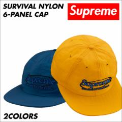 シュプリーム Supreme キャップ 帽子 メンズ レディース Survival Nylon 6-Panel Cap ネイビー ゴールド