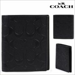 コーチ COACH 財布 二つ折り メンズ レザー F11970 BLK ブラック
