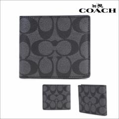 コーチ COACH 財布 二つ折り メンズ レザー F75083 チャコールグレー [4/19 再入荷]