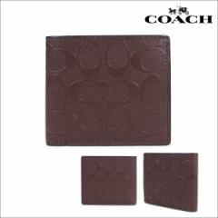 コーチ COACH 財布 二つ折り メンズ レディース レザー F75363 ブラウン [4/19 再入荷]