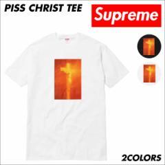 シュプリーム Supreme Tシャツ メンズ 半袖 PISS CHRIST TEE ティーシャツ T-SHIRTS ブラック ホワイト