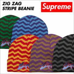 シュプリーム Supreme ニット帽 ビーニー ニットキャップ メンズ レディース ZIG ZAG STRIPE BEANIE